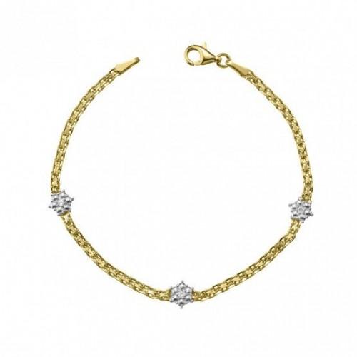 Pulsera Comunión  de Oro Bicolor y Diamantes 4C8307202